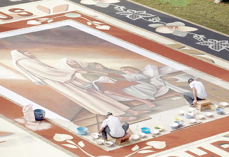 ギネス記録に登録された世界最大の砂絵