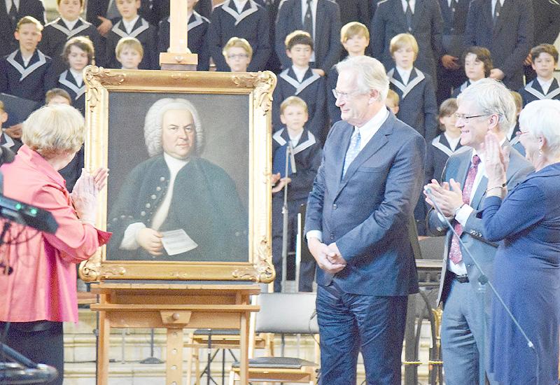 「音楽の父」バッハが肖像画、ゆかりの地に