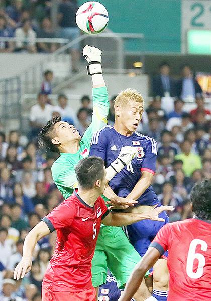 日本は引き分け発進、シンガポールと0-0