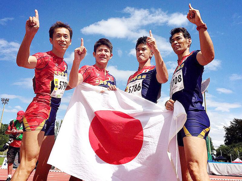武井壮さんがシニア陸上のリヨン大会で優勝
