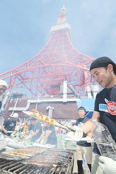 東京タワーで「さんままつり」、今年で7回目