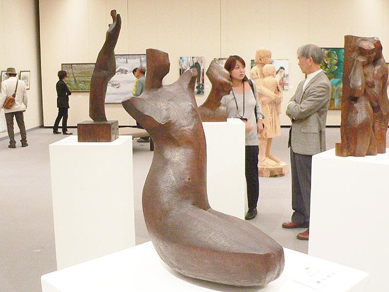 秋田国際美術家協会の第2回展が秋田で開催