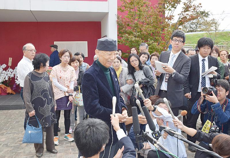 大村智さん、古里で笑顔「眺望がきれい」