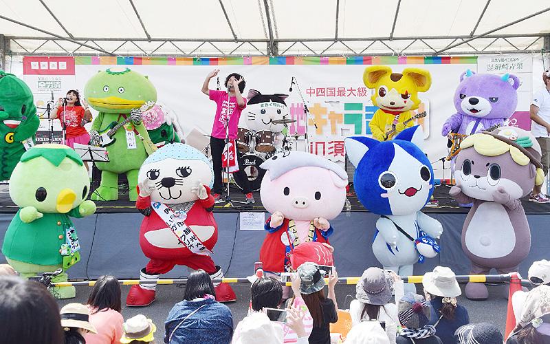 高知県須崎市に「ご当地キャラ」が大集合