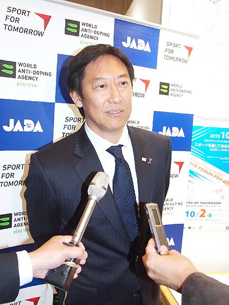鈴木大地スポーツ庁長官、ドーピング撲滅訴え