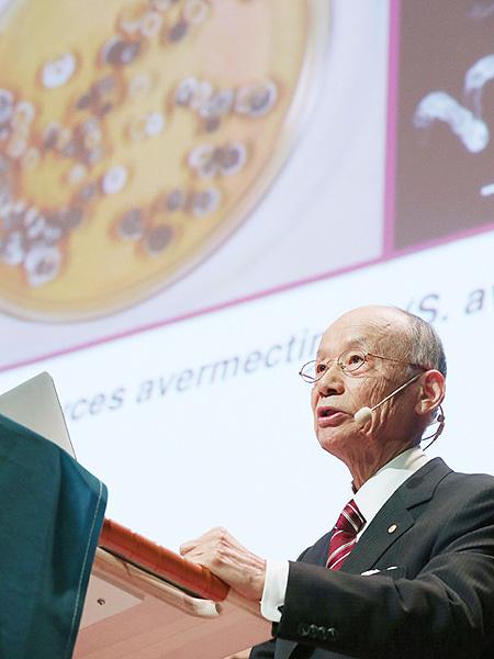 大村智さん、ノーベル医学生理学賞の記念講演