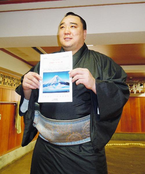 腕前は「玄人はだし」、日馬富士関が絵画展開催