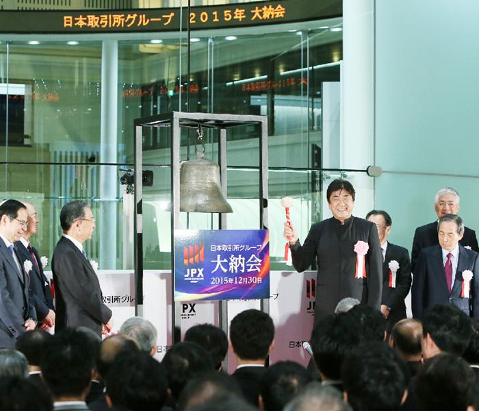 東証大納会の年末株価、19年ぶりに高値