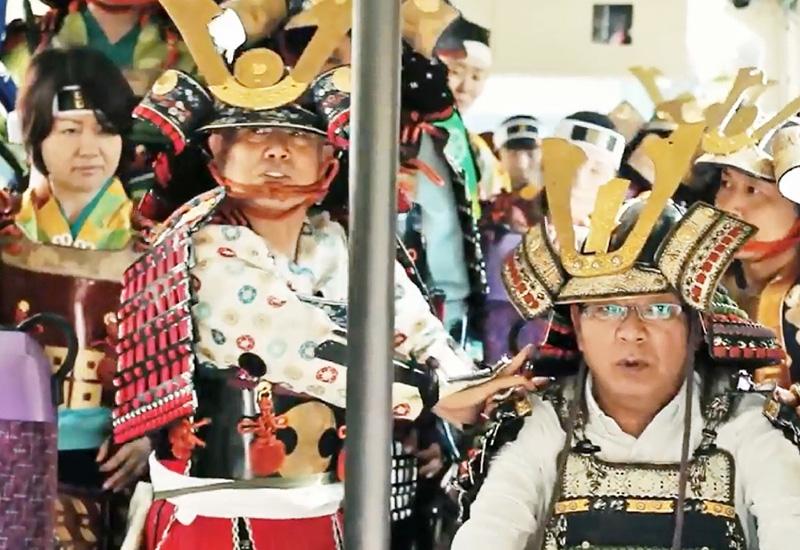 「松江は武者のまち!」で松江城PR