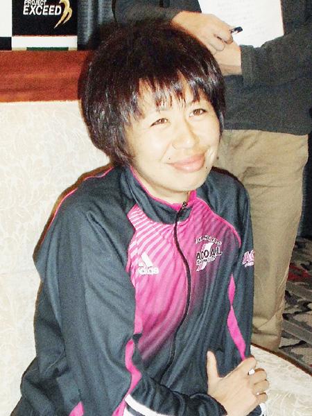 福士加代子、大阪国際女子マラソンで優勝